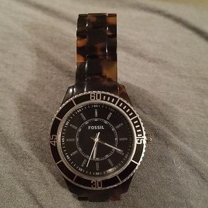 Fossil Accessories - Fossil Watch With Tortoise Shell Band